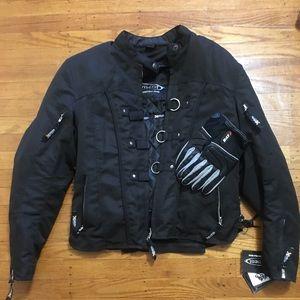 Motorcycle jacket with gloves bundle.